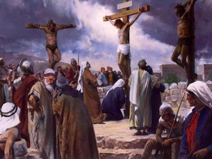 ... was crucified. The story of his crucifixion is given in detail in
