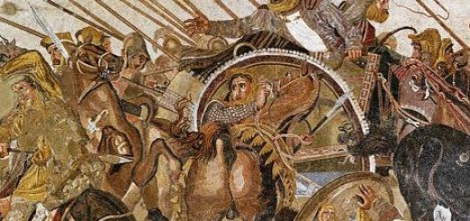 Detail showing fleeing Persians (King Darius centre) from an Anc